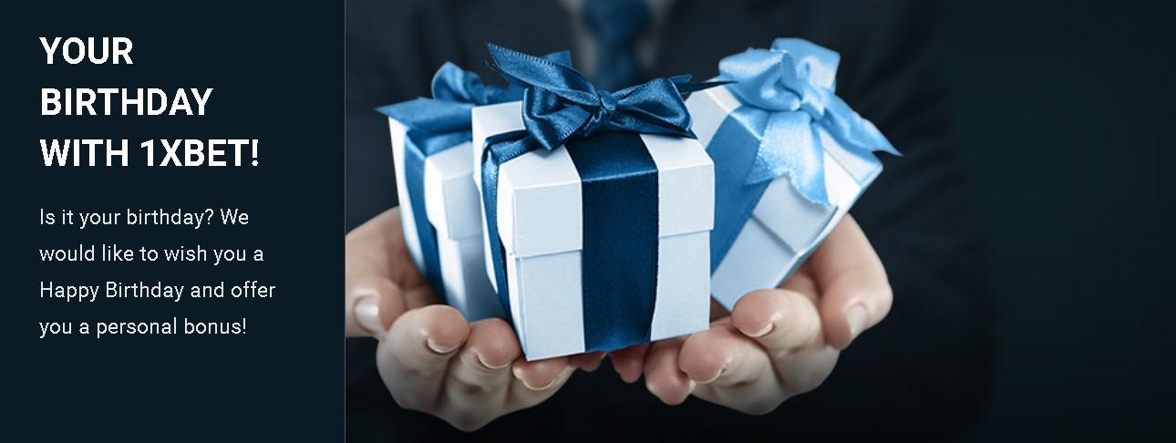 1xBet birthday bonus
